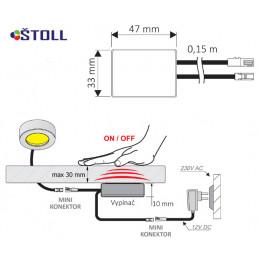 Kolébkový spínač LED007023...